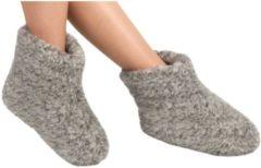 Woolwarmers Grijze wollen sloffen/pantoffels voor dames/heren 45