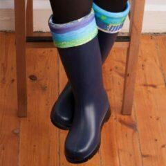 Biggdesign regenlaarzen voor dames Boze oog ontwerp Ftalaatvrij, donkerblauw PVC-materiaal | Waterdicht | Regenlaarzen | Kunstenaar Design | Stijl en goed
