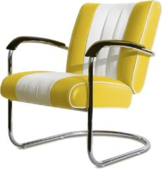 Bel Air Retro Fifties Furniture Bel Air Retro Loungestoel LC-01 Geel