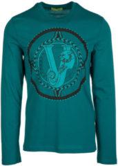 Verde Versace Jeans T-shirt maglia maniche lunghe girocollo uomo