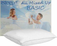 Witte ISleep All Mixed Up Basic | Puntkussen | Latex Sticks met Dreampearls | 1200 Gram Kussen Vulling | Veerkrachtig Hoofdkussen | Ventilerend & Wasbaar | 60x70 cm