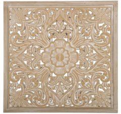 Beliani Yonora Muurdeco Licht houtkleur Verlijmd hout