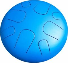 Blauwe LIDAH® Steel Tongue Drum - G-majeur Constellation Series (28 cm) – Handpan - Lotus Drum – Klankschaal – Meditatie - Yoga