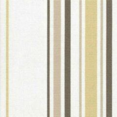 Acrisol Minerva Beige 1200 gestreept, wit, beige, bruin, taupe stof per meter buitenstoffen, tuinkussens, palletkussens