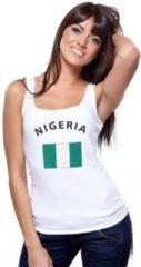 Fun & Feest Party Gadgets Witte dames tanktop met vlag van Nigeria Xl