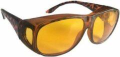 Merkloos / Sans marque Nachtzicht bril zwart - volwassenen - nachtblind bril / nachtbril