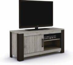 BELFURNID Belfurn - Metz tv meubel 120cm in een grijs decor met zwarte profielen