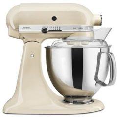 Creme witte KitchenAid Artisan keukenmachine 4,8 liter 5KSM175PSEAC - Amandelwit