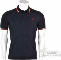 Blauwe Polo Shirt Korte Mouw Fred Perry SLIM FIT TWIN TIPPED