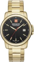 Gouden Swiss Military Hanowa - Swiss Made - herenhorloge Swiss Recruit II 06-5230.7.02.007