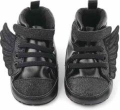 Supercute - baby sneakers - Wings - zwart - glitter - 12 tot 18 maanden