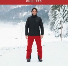 Cortazu Mountain Shell Broek Chili Rood | Heren warme outdoor wintersport broek waterdicht & winddicht.