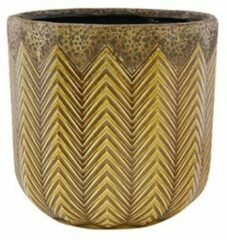 Gele Ter Steege Pot Cecile ochre bloempot binnen 18 cm
