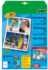 Witte Inkjet Ultra Fotopapier A4 180gram Zijdemat 20 Vel