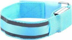 Able & Borret Hardloop LED Band | Reflecterende sport band | Veiligheidsbandje | Blauw