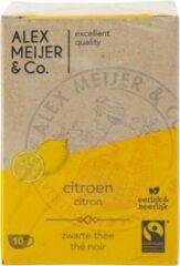 Theezakjes Citroen Smaak Grote verpakking 60 zakjes 2 gram Alex Meijer Fair Trade
