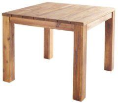 Holz-Tisch 90x90cm Natur Esstisch Gartentisch Gartenmöbel Akazie Grasekamp braun
