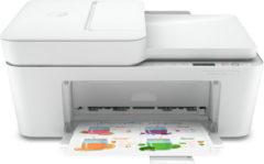 Grijze HP DeskJet Plus 4120 All-in-One printer Thermische inkjet 4800 x 1200 DPI 8,5 ppm A4 Wi-Fi