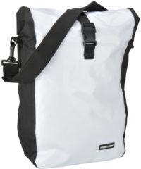 FISCHER Fahrrad-Gepäckträgertasche Kurier, weiß/schwarz
