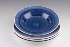 Dudson - Brasserie - Handbeschilderd - Diep bord Pastabord 24cm - Blauw - set á 4