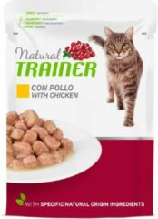 Natural trainer cat adult chicken pouch kattenvoer 12x85 gr