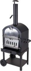 Zilveren ML Bbq en Pizza Oven in 1 Houtskool Barbecue