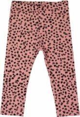 R Rebels | Katoenen baby legging | Roze Panterprint | Maat 74