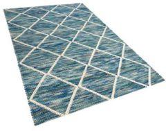 Beliani Vloerkleed blauw 140 x 200 cm BELENLI