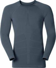 Grijze ODLO Shirt l/s crew neck GOD JUL - Sporttrui - Maat S