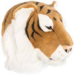 Bruine Wild & Soft Wild&Soft- Wanddecoratie dierenkop pluche tijger Felix