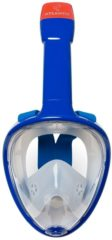 Blauwe Atlantis Full Face Mask - Snorkelmasker - Volwassenen - Bright Blue - S/M