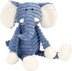 Blauwe Jellycat Cordy Roy baby olifant knuffel 34 cm