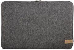 """Donkergrijze Hama Jersey notebooktas 39,6 cm (15.6"""") Opbergmap/sleeve Grijs"""