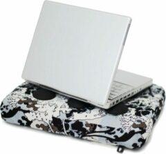 Blauwe Bosign laptop kussen botany - siliconen doppen voor luchtafvoer - 37 x 27 x 6 cm