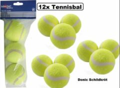 Gele 12x Donic Schildkröt tennisballen Magic-Sports - Sport en spel tennis