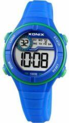 Xonix digitaal kinder horloge Blauw/Groen BAI-004