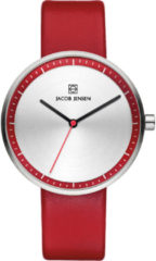 Zilveren Jacob Jensen watches dameshorloge Strata 283