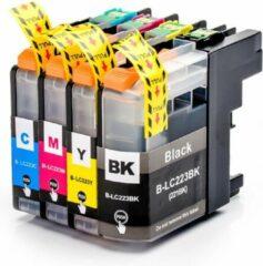 Cyane Inkmaster Brother LC223 LC221 XXL Inktcartridges multipack huismerk set 4 stuks voor MFC J5320DW J4120DW J4420DW J880DW J480DW J4620DW J5620DW J680DW J5625DW J4625DW J5720DW