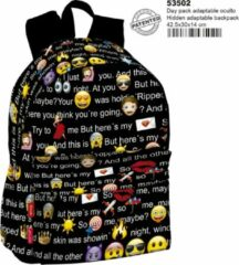 Zwarte Emoji Emotie Rugzak Schoolrugzak Tas Emotions