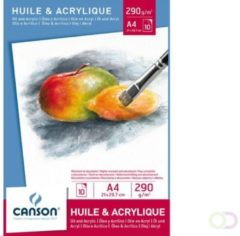 Bruna Olie Aquarelblok Canson A4 290gr 10vel