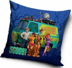 Blauwe Carbotex Scooby Doo - Sierkussen Kussen 40 x 40 cm inclusief vulling