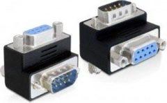 Zwarte DeLOCK 65264 Sub-D 9 pin Sub-D 9 pin Zwart kabeladapter/verloopstukje