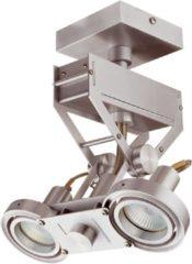 Roestvrijstalen Merkloos / Sans marque Artdelight Spot Koln 2 lichts H 28 cm aluminium