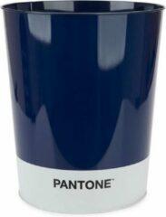 Balvi Afvalbak Pantone 10 Liter Tin Blauw/wit