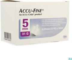 Accu-check Accu-Fine 0,25mm(31G)x 5mm 100 Stuks