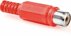 Rode Vrouwelijke Rca Plug - Rood - (25 st.)