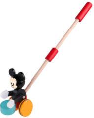 Rode Disney Duwstok hout Mickey Mouse met trommel 18+ mnd