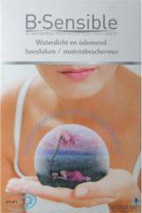 B-Sensible Topper 2 in 1 Hoeslaken + Matrasbeschermer - Tweepersoons - 160x200 cm - Wit
