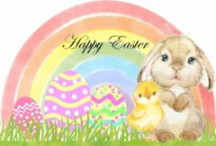 Lbm Raamsticker Vrolijk Pasen - herbruikbare sticker - statisch folie - Easter - lente - happy Easter