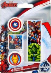 Marvel Avengers gommen set 4 stuks